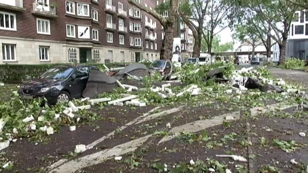 Následky bouře v Německu