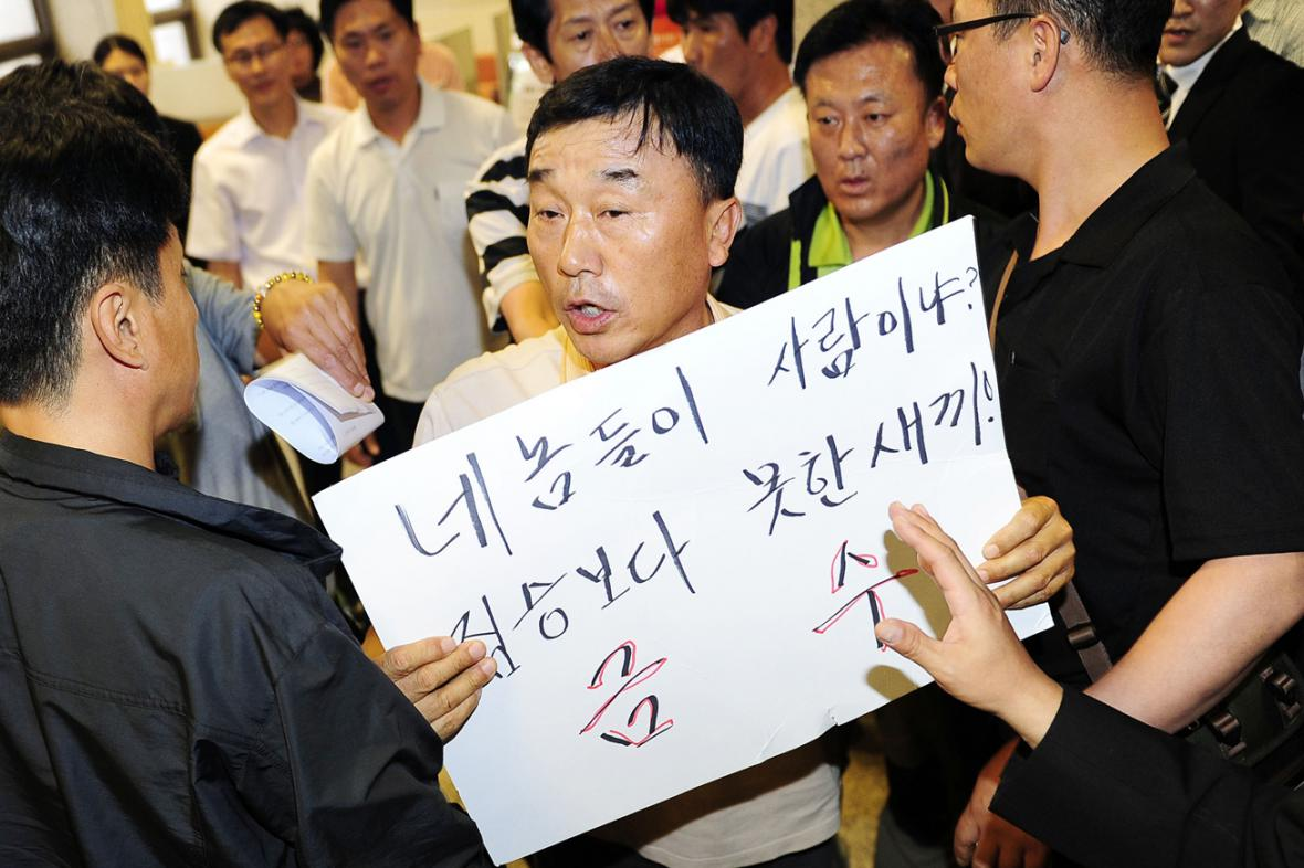 Rodiny obětí z trajektu Sewol žádají přísné tresty pro posádku