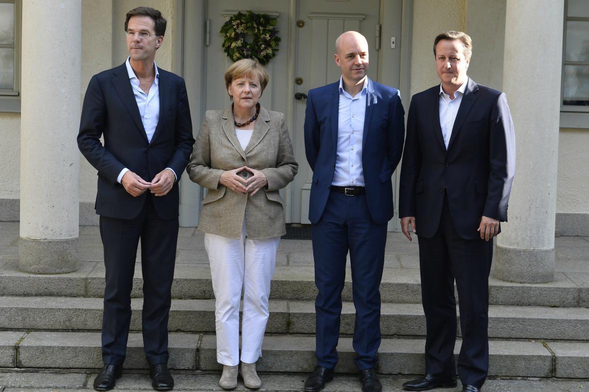 Rutte, Merkelová, Reinfeldt a Cameron se sešli ve Švédsku