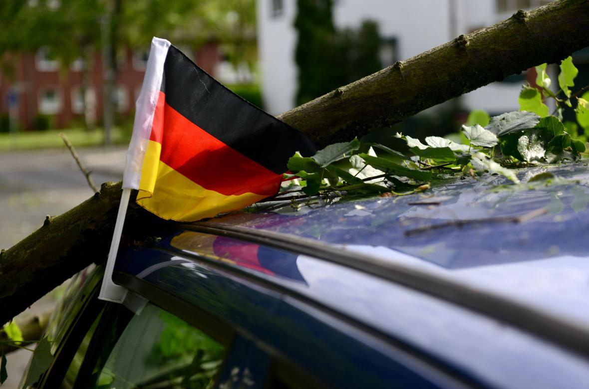 Následky bouře v Gelsenkirchenu