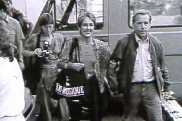 Václav Havel s Joan Baezovou v roce 1989