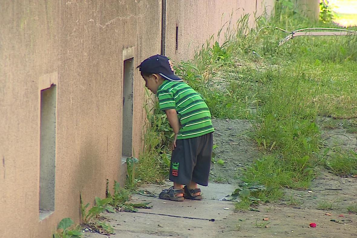 Dítě z ubytovny