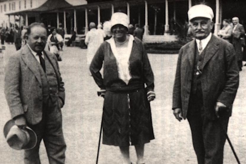 Lázeňský host Leoš Janáček s přítelkyní Kamilou Štyslovou