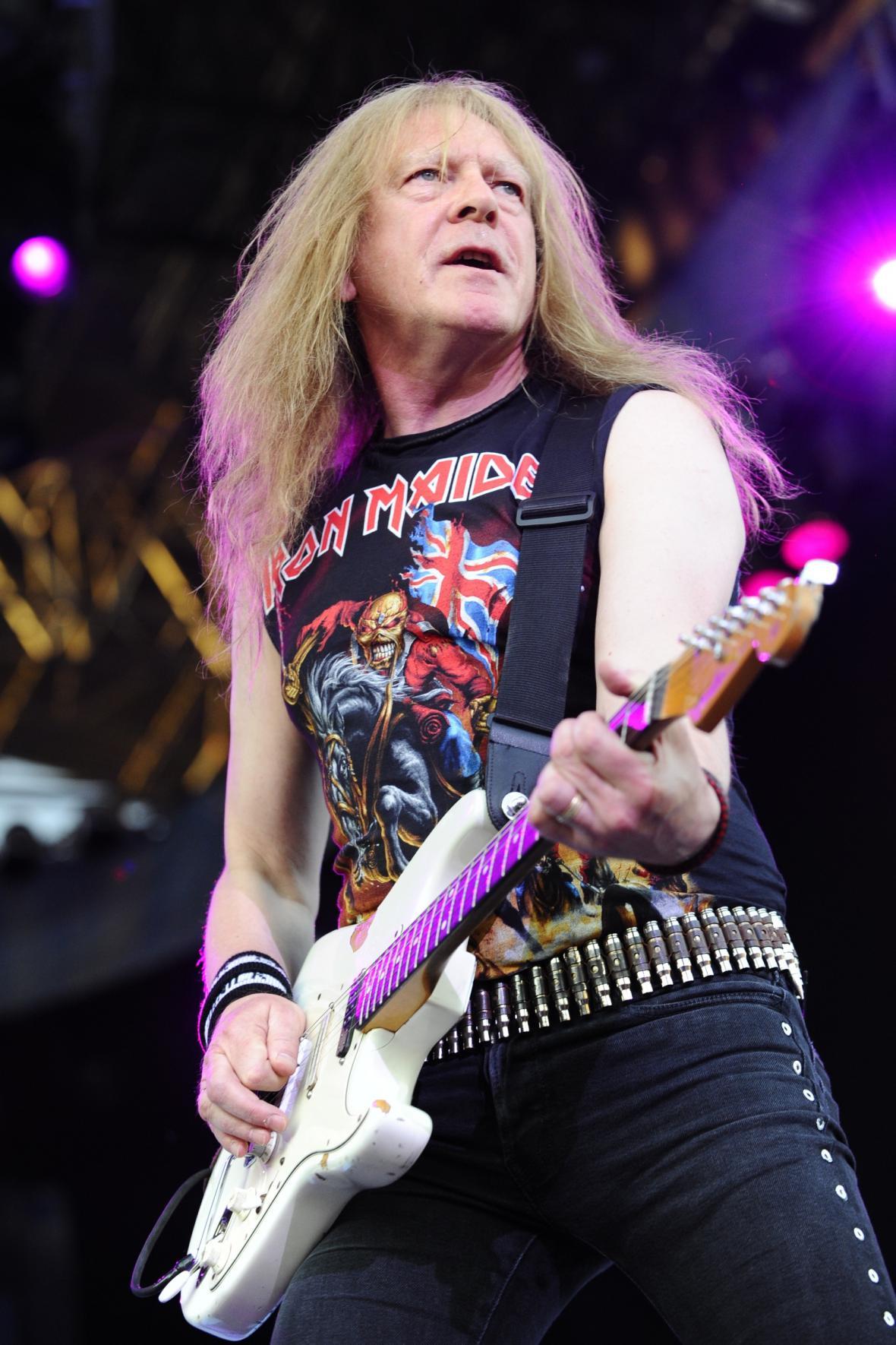 Kytarista skupiny Iron Maiden Janick Gers