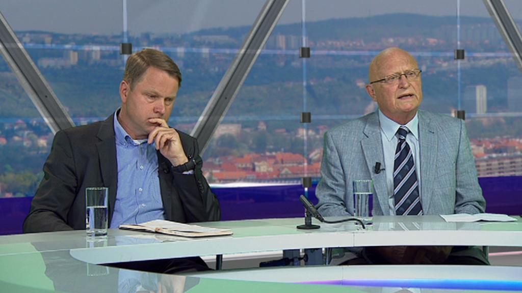 Martin Bursík a Václav Pačes v Otázkách Václava Moravce