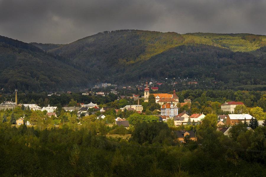Pohled na Horní Jiřetín