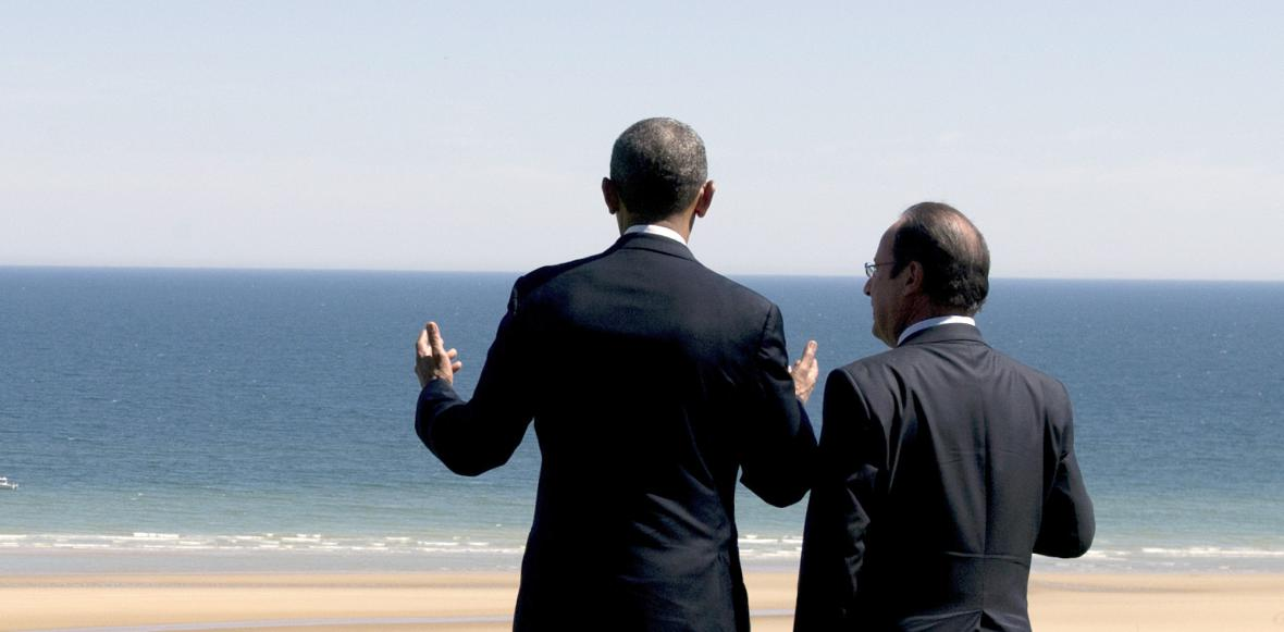 Barack Obama a Francois Hollande