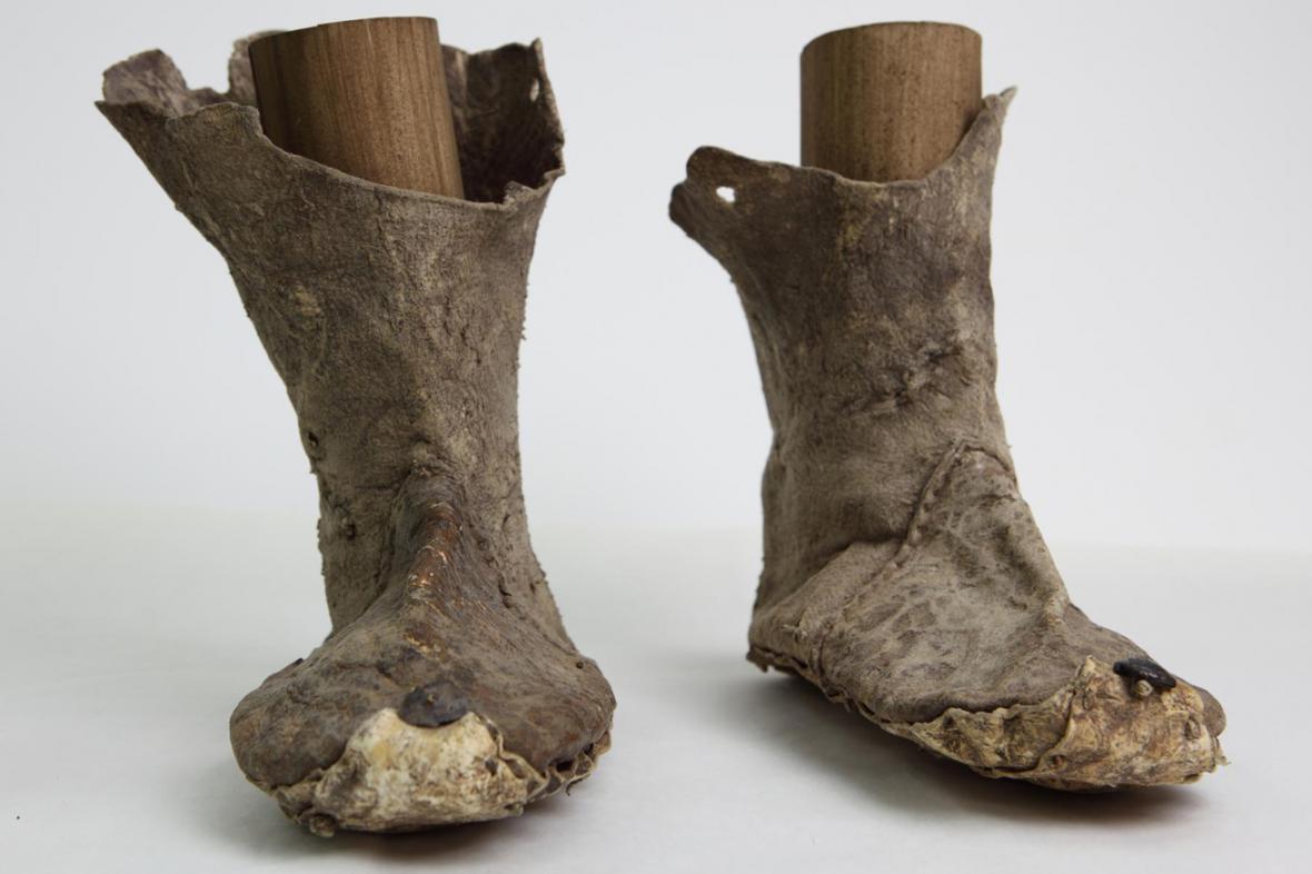 Kožené boty z čínského Chami
