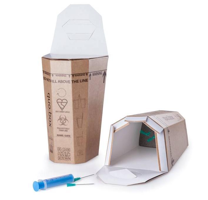 Quo.box na sběr injekčních stříkaček