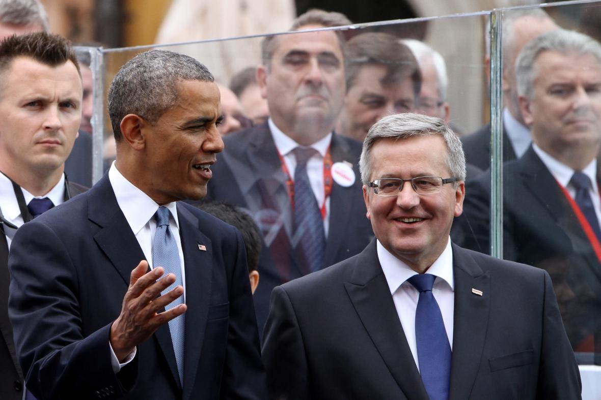 Barack Obama a jeho polský protějšek Bronislaw Komorowski