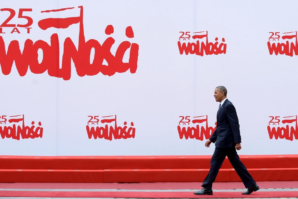 Barack Obama na polských oslavách svobody