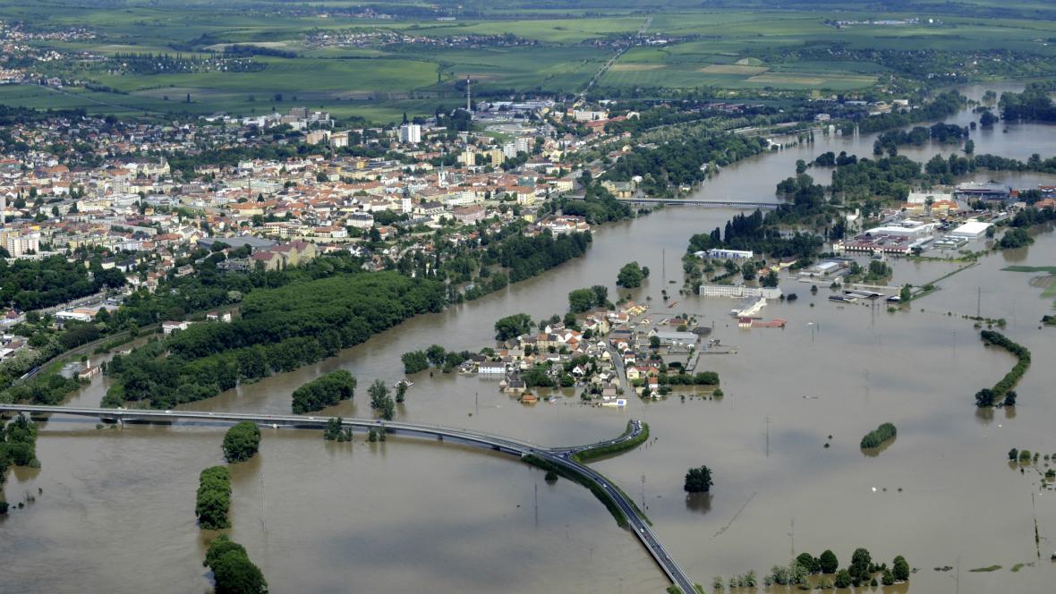 Zaplavené Litoměřice