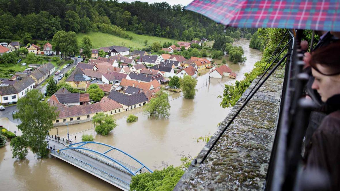 Povodně, Lužnice, Bechyně