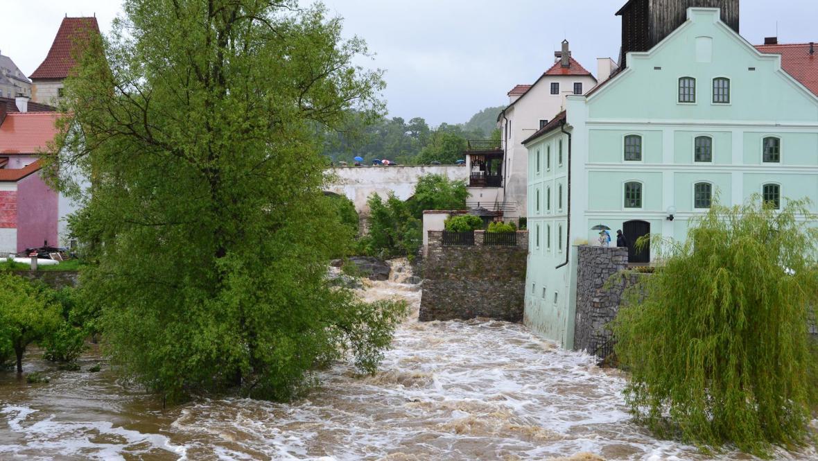 Velká voda v Českém Krumlově