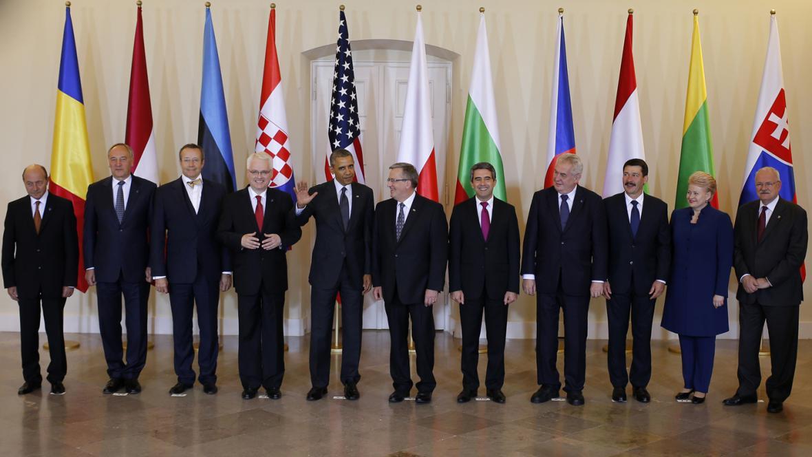 Setkání Baracka Obamy s lídry východoevropských a středoevropských zemí