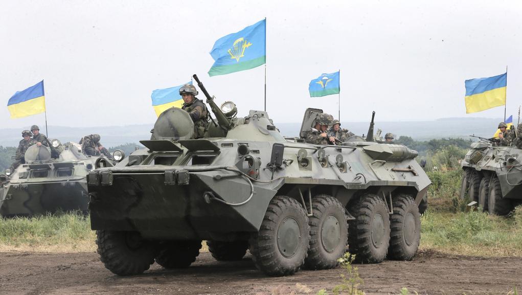 Ukrajinské jednotky u Slavjansku