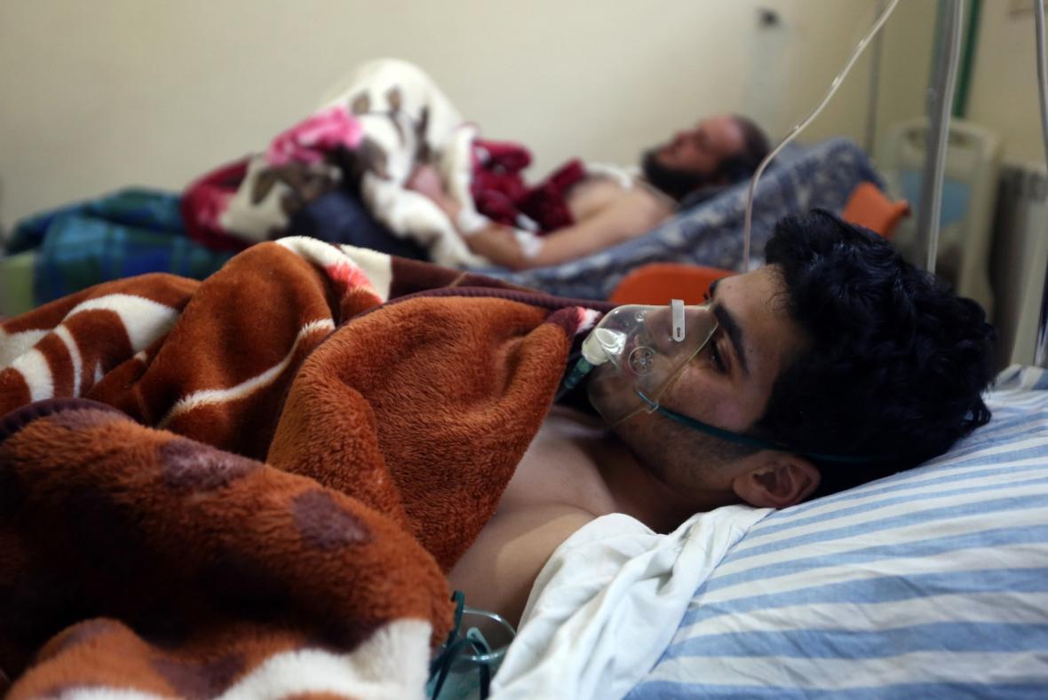 Ranění v polní nemocnici na libanonsko-syrské hranici