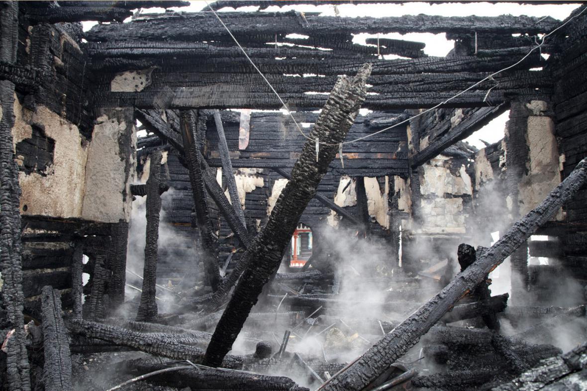 Libušín po požáru