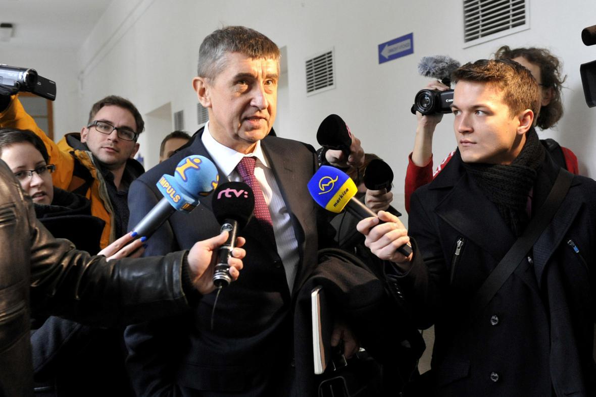 Andrej Babiš s novináři