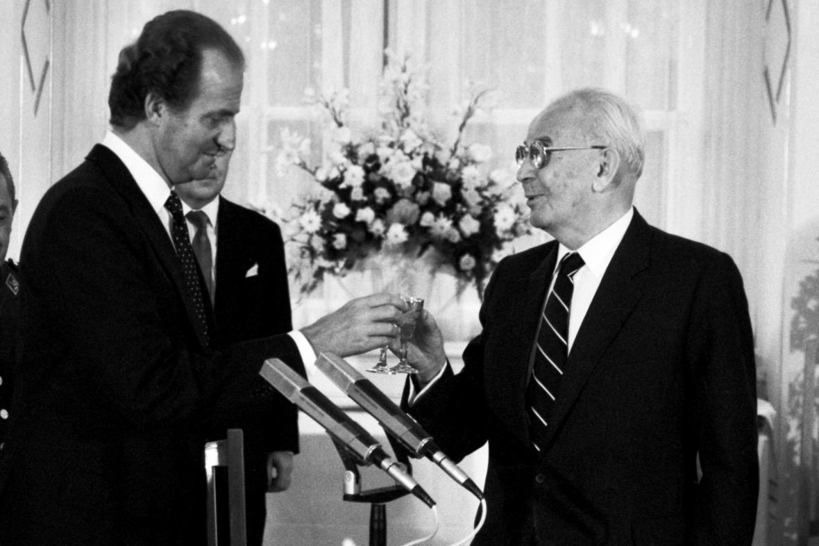 Juan Carlos I. s Gustávem Husákem