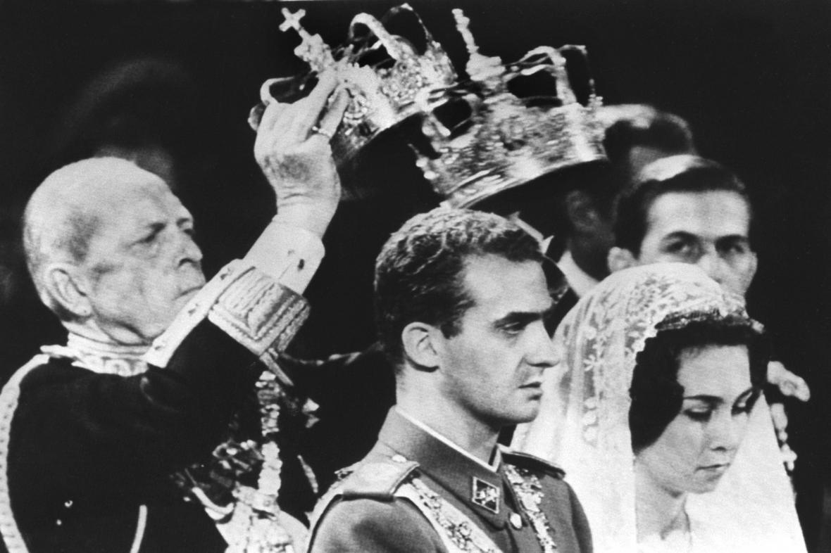 Korunovace krále Juana Carlose v roce 1962
