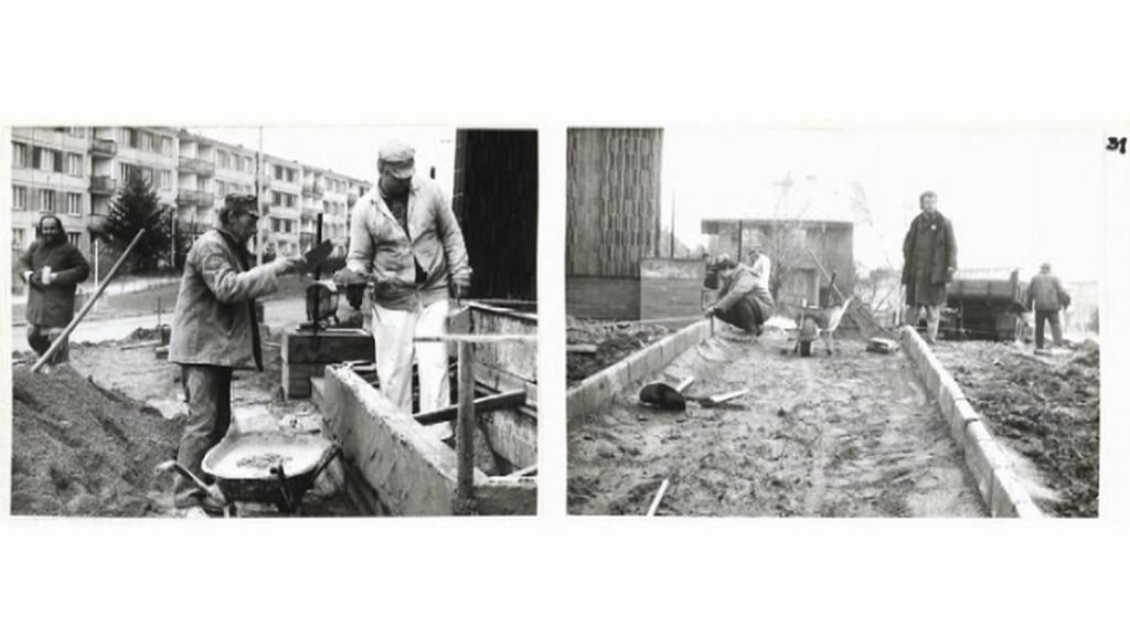 Výstavba garáží v 80. letech