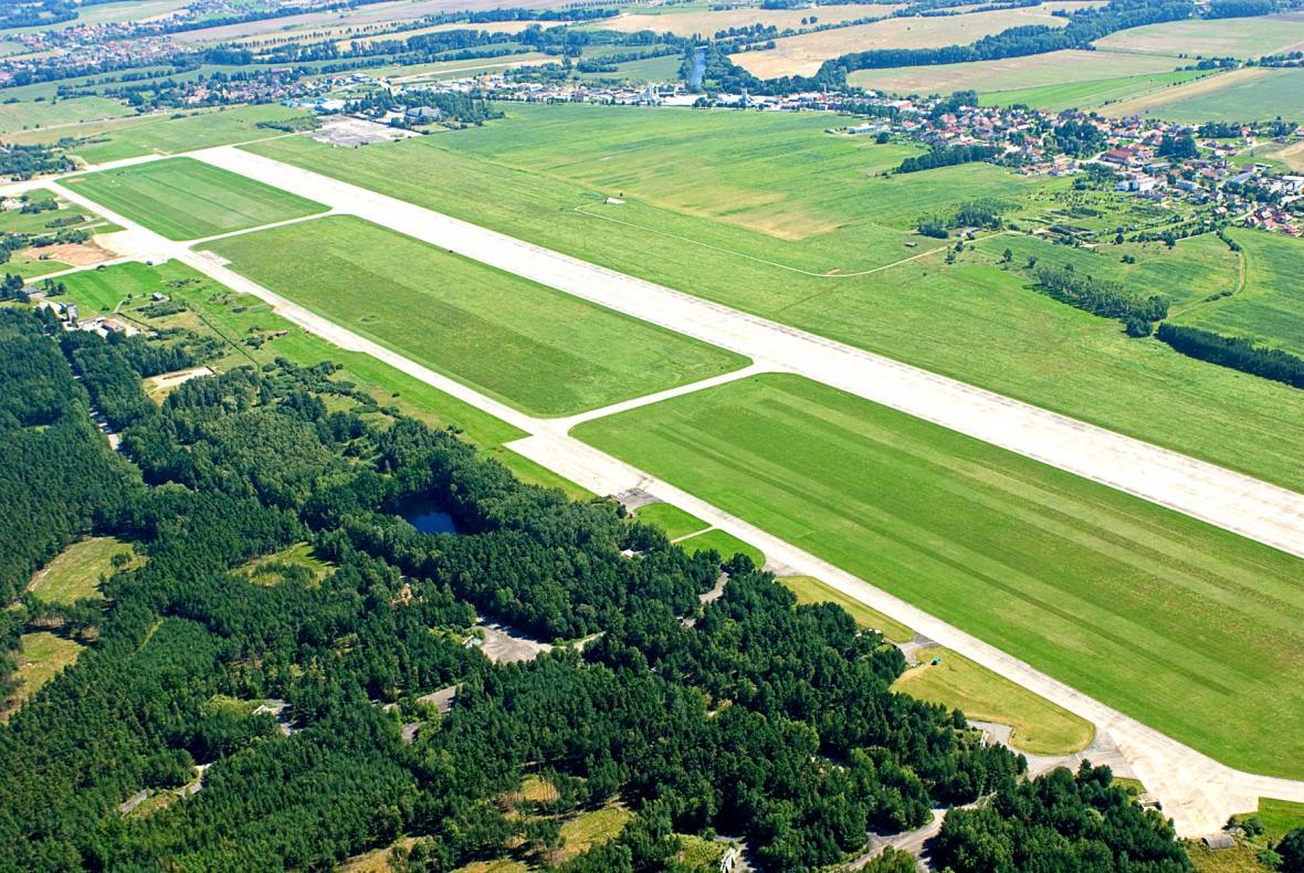 Letiště v Plané u Českých Budějovic (snímek z roku 2009)