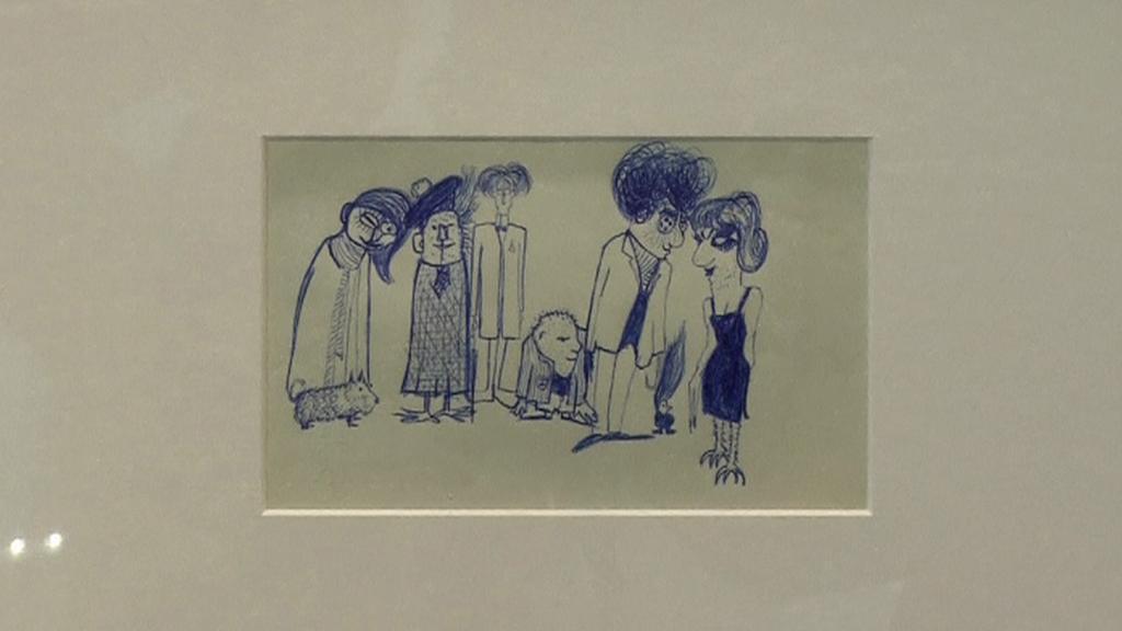 Dražená kresba Johna Lennona
