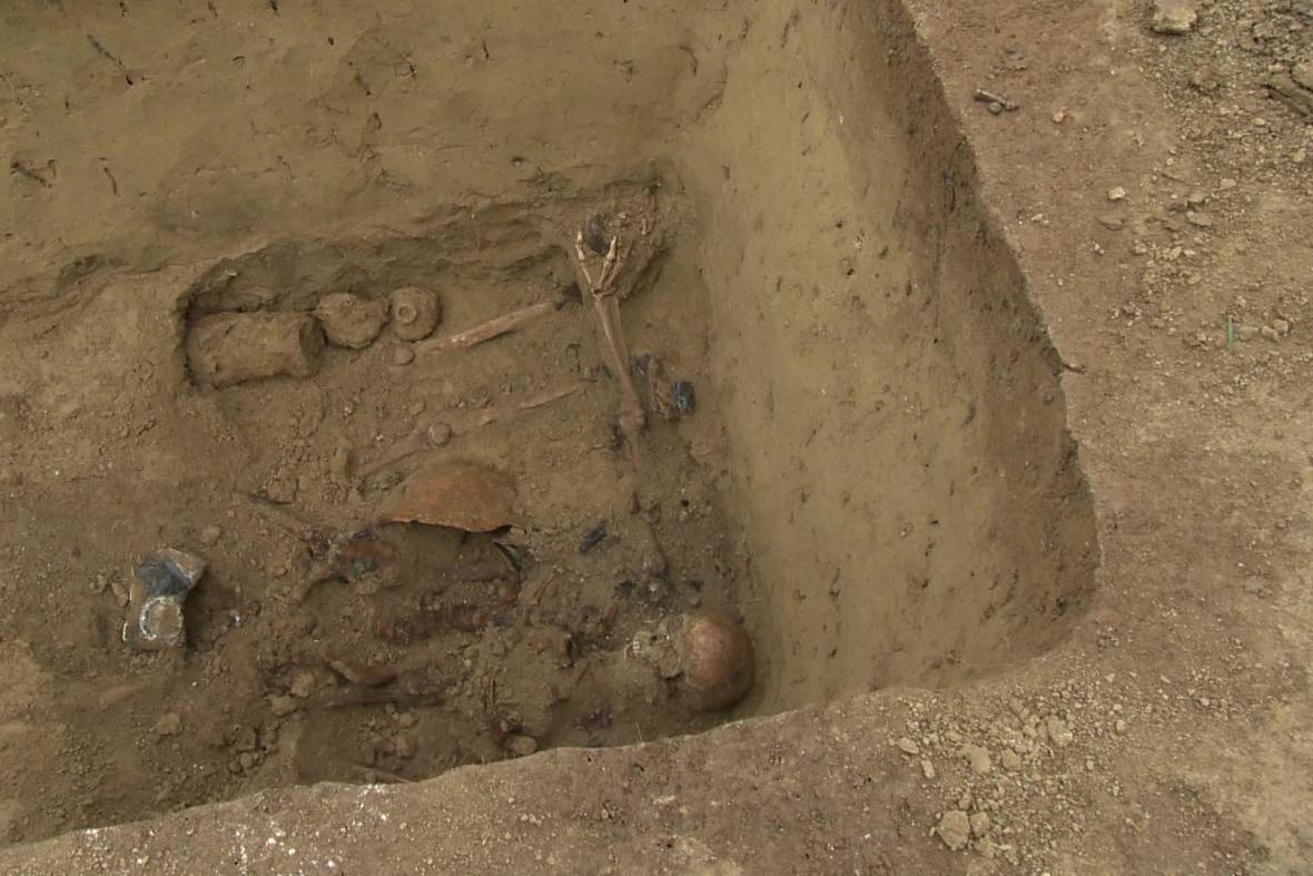 Hrob tří německých vojáků u Popůvek na Brněnsku