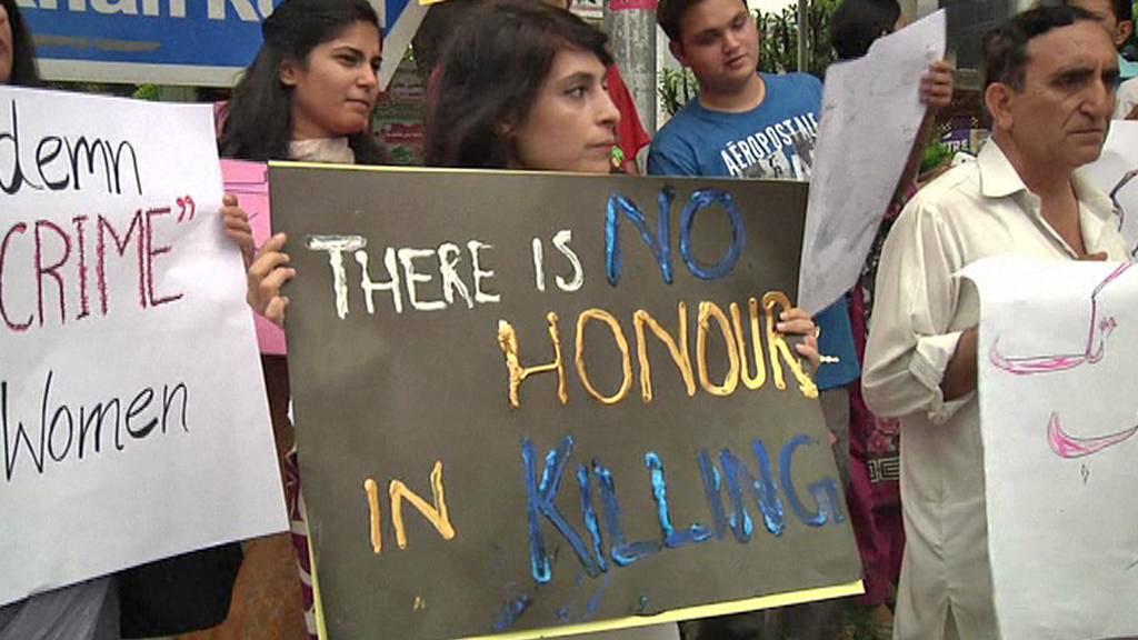 Pákistánský protest proti vraždám ze cti