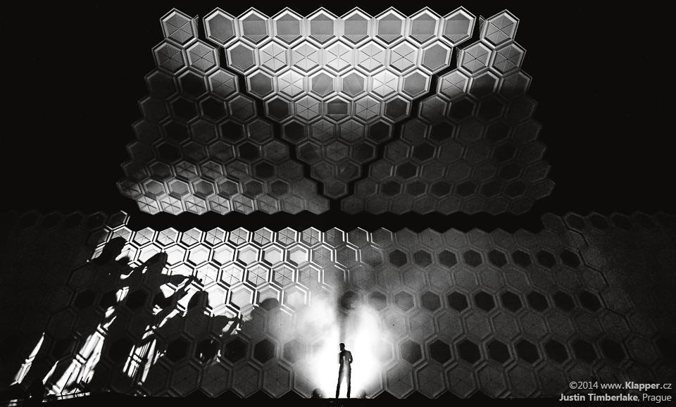 Justin Timberlake na koncertě v Praze