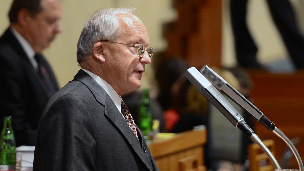Jiří Nykodým mluví k Senátu