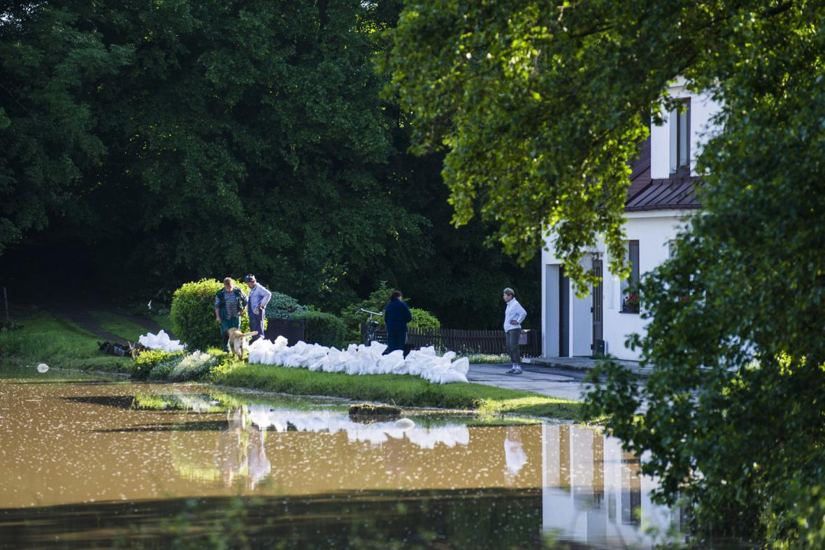 Nebezpečí záplav u obce Borovnice na Rychnovsku