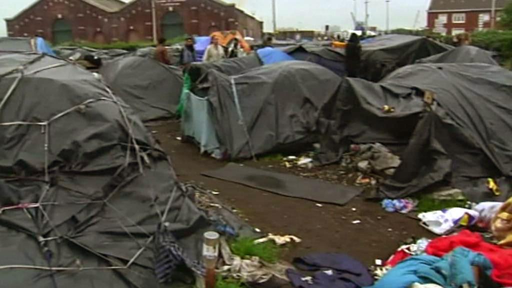 Uprchlický tábor v Calais