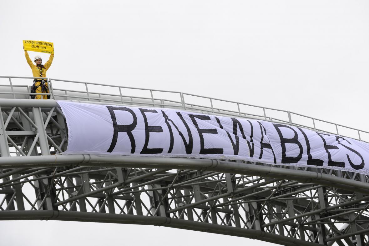Happening hnutí Greenpeace