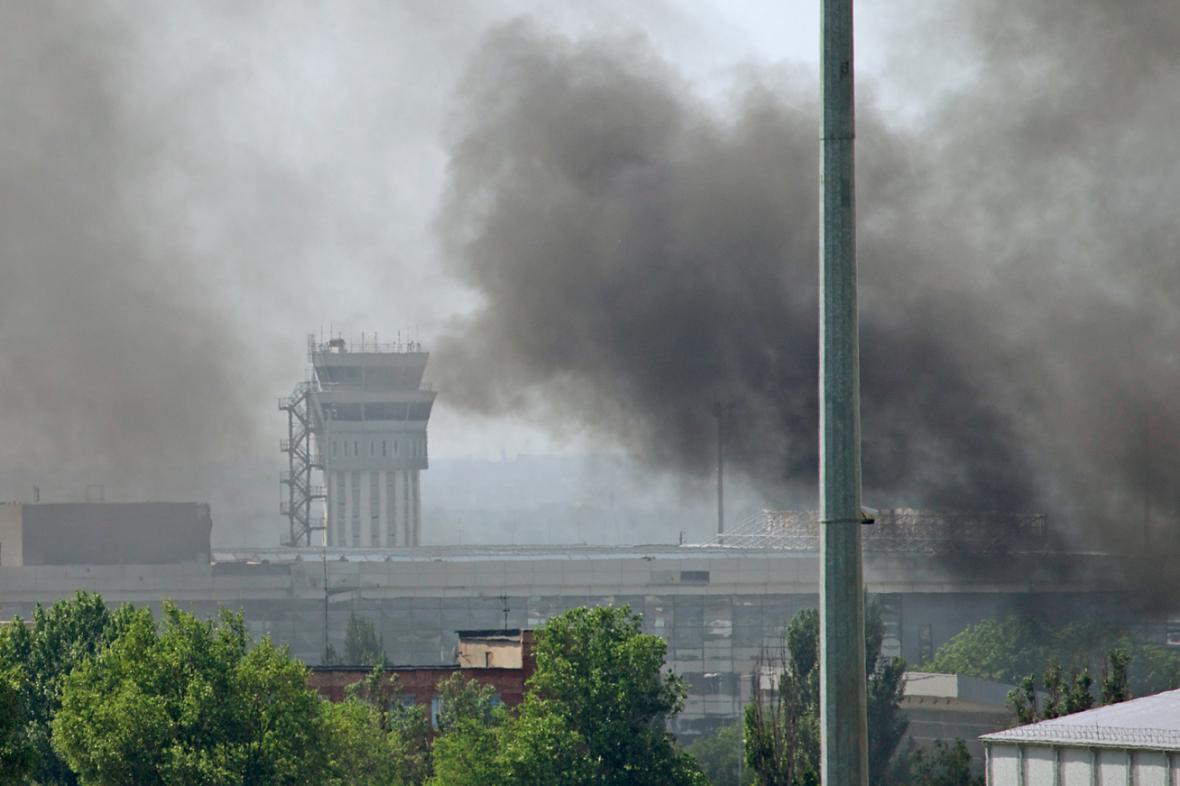 Boj o letiště v Doněcku