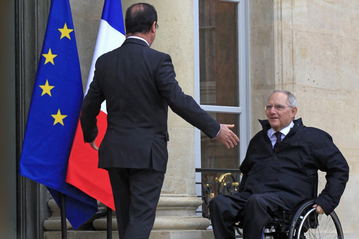 Françoise Hollande a Wolfgang Schäuble