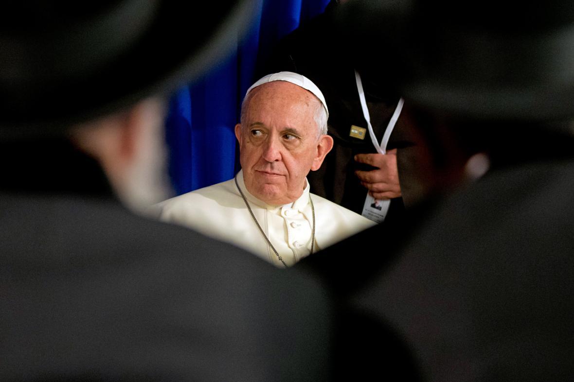Papež František v Jeruzalémě