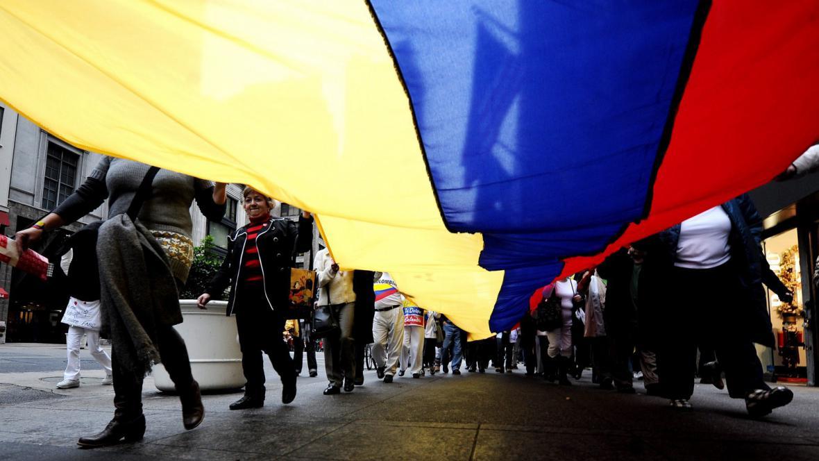 Pochod na protest proti skupině FARC
