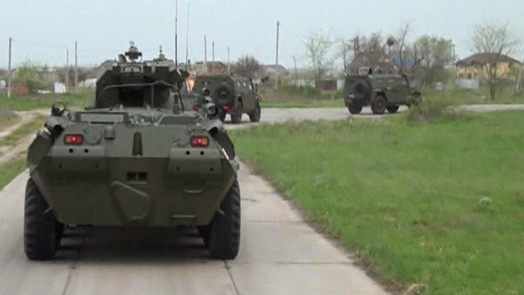 Manévry ruských jednotek Jižního a Západního okruhu