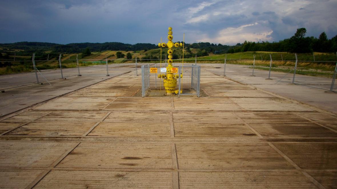 Průzkumný vrt pro těžbu břidlicového plynu