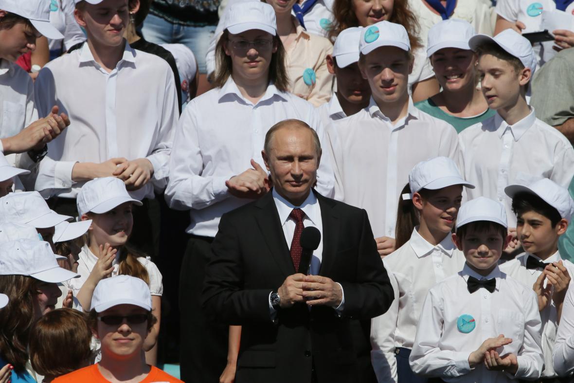 Vladimir Putin v Petrohradě