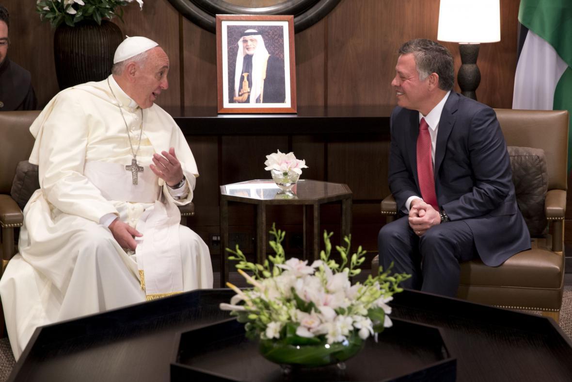 Papež František s Abdalláhem II.