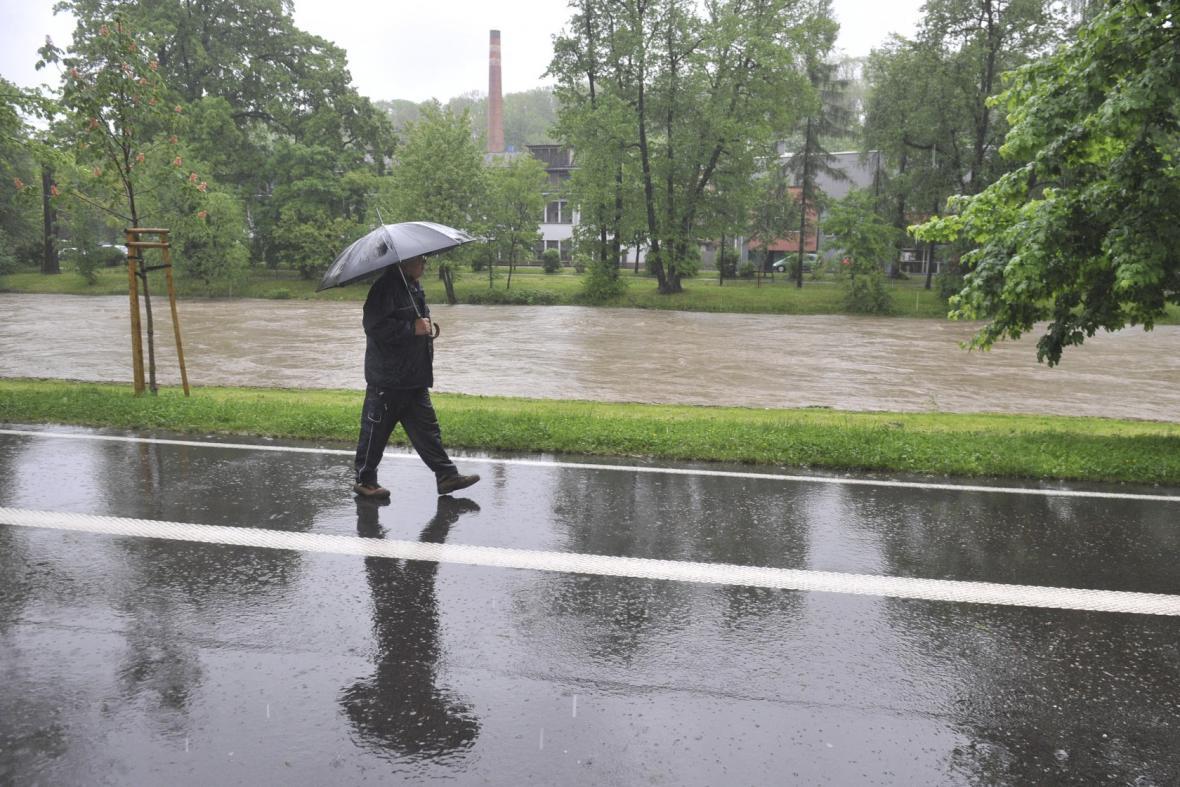Česko zasáhly silné deště