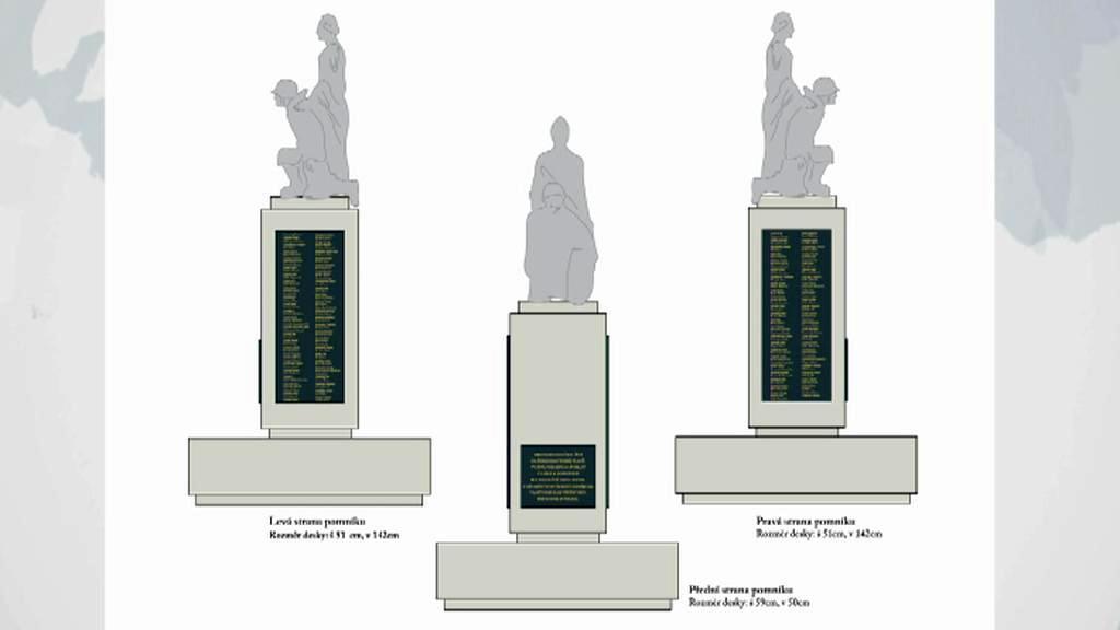 Vizualizace památníku legionářů v Nových Zámcích