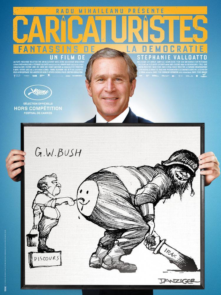 George W. Bush na karikatuře z filmu Caricaturistes