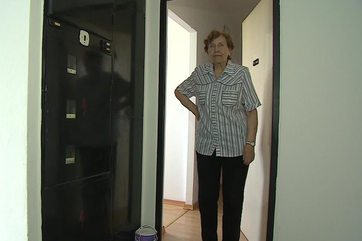 Jaroslava Komárková je bez elektřiny od poloviny května