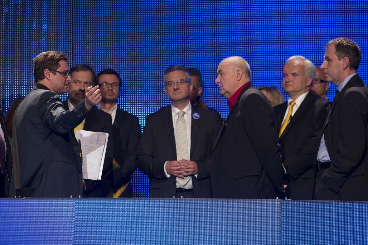 Lídři kandidátek v Evropské superdebatě ČT