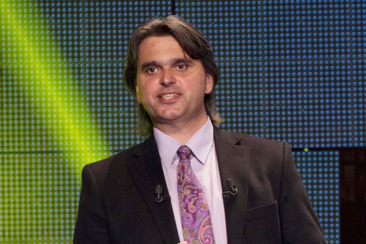Lídr evropské kandidátky Úsvitu Roman Škrabánek