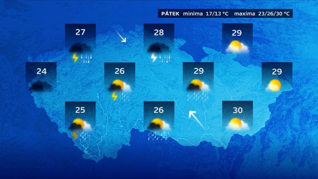 Předpověď počasí na pátek 23. 5.
